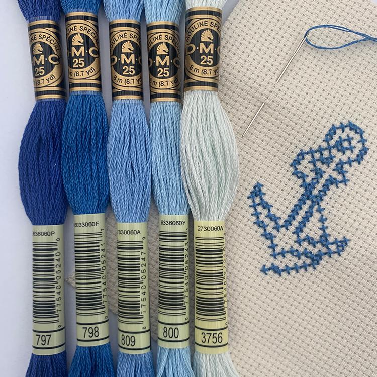 blå nuancer